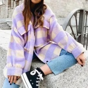 倪妮最爱Isabel Marant平替格纹外套