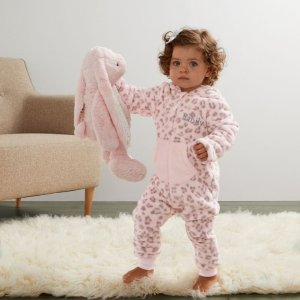 My 1st Years20% Off for $100+Personalized Pink Leopard Print Fleece Onesie