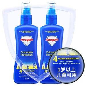 含税到手合¥29/件Aerogard 安护无香型宝宝驱蚊液 175ml*2