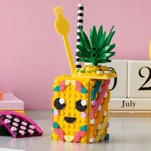 折后仅€14.47 带曲别针收纳盒Lego 乐高菠萝头的笔筒 实用又有趣 让小朋友养成整理好习惯