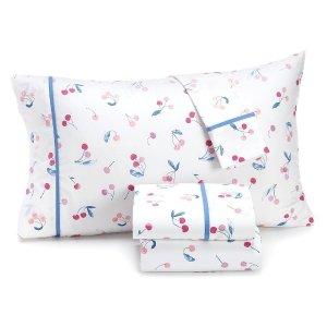Martha Stewart 200针纯棉樱桃图案枕套2件套