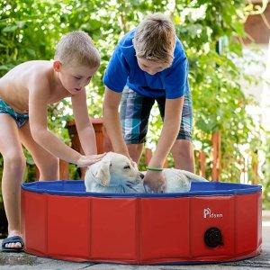 $29.99起 最高立减$50Pidsen 便携式宠物充气游泳池 让毛孩子也清凉过夏 3尺寸可选