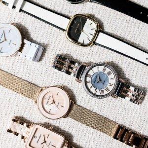 低至3.5折 款式众多Anne Klein 网红小众品牌 专注颜值 腕表手镯超值礼盒$79
