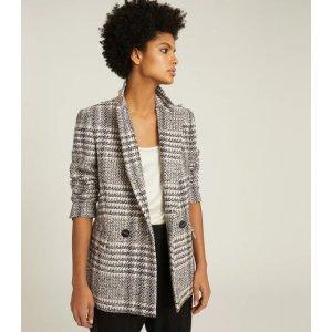 Reiss格纹外套