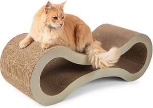Paws & Pals Cat Scratcher Post & Lounger, Beige - Chewy.com