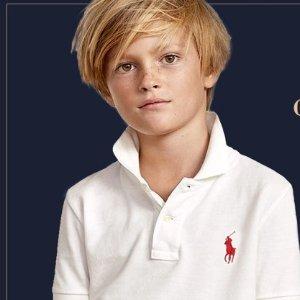 5折起+额外6折Ralph Lauren官网 精选儿童服饰限时促销