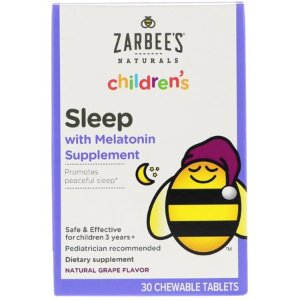 Zarbee s  Children s  Sleep with Melatonin Supplement  Natural Grape  30 Chewable Tablets - Walmart.com
