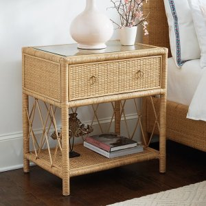 Suzanne Kasler Southport Rattan Side Table