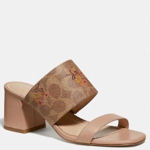 CoachMae 花朵凉鞋