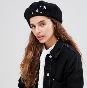 7X studded beret