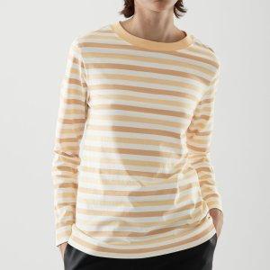 COS100%有机棉条纹长袖T恤