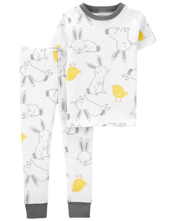 小童小兔复活节睡衣套装