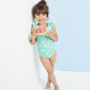 买一送一 具有UPF 50+防晒保护OshKosh BGosh 儿童泳装等上新 小美人鱼和冲浪小王子必备