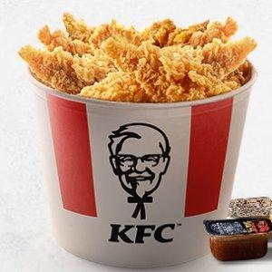 €6.95得11块炸鸡柳KFC 每周二优惠活动来啦 满满一桶的卡路里 真香