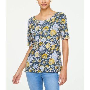 LOFT OutletGet $20 Off $100Floral Elbow Sleeve Tee