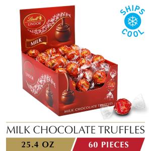 $15.99 一颗只需$0.26Lindt LINDOR 牛奶巧克力松露 60颗 25.4 oz.