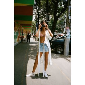 Urban Outfitters中长裹身连衣裙