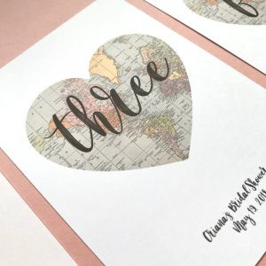 Heart World Map Table Numbers | Etsy