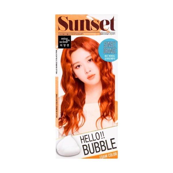 韩国MISE EN SCENE爱茉莉 HELLO BUBBLE泡沫染发剂 落日橘色 单组入 - 亚米网