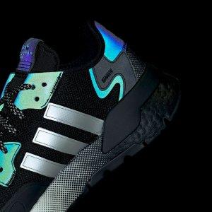 7折+额外7折 入超酷渐变底Adidas官网 Nite Jogger 反光科技跑鞋超全折扣 颜值炸裂