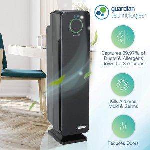 $152.98  (原价$212.98)史低价:GermGuardian  HEPA 四合一 WiFi&蓝牙智能空气净化器