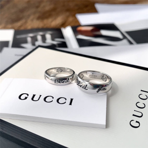 仅€220 还有红色爱心系列520礼物:Gucci Blind For Love系列纯银对戒热卖