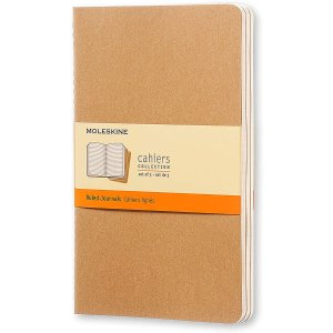 Moleskine Cahier Journal, Soft Cover, Large (Set of 3)