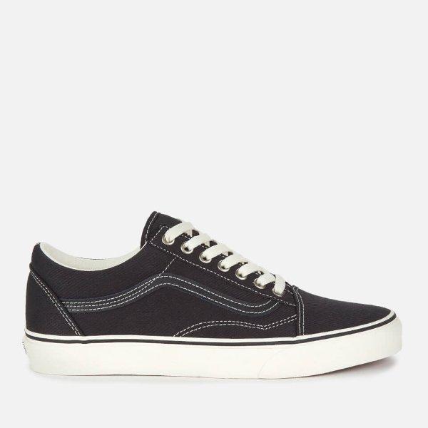 男士黑色滑板鞋