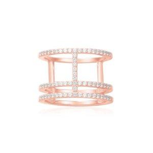 APM比官网便宜$31Geometrical 碎钻装饰戒指