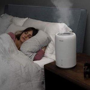 $59.99包邮(原价$79.99)Levoit 超声波冷雾加湿器、精油扩香器 智能睡眠模式