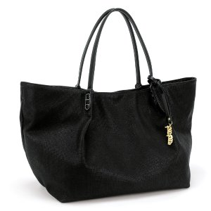 ISLAND RIVIERA LARGE BLACK TOTE BAG