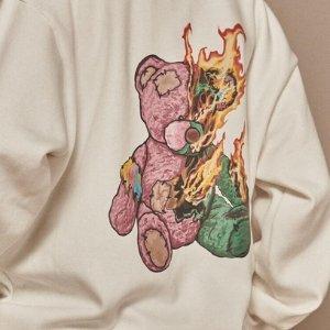 4折起 两穿摇粒绒夹克$100+AINTCRACK 韩国潮牌热促 暴力熊卫衣补货