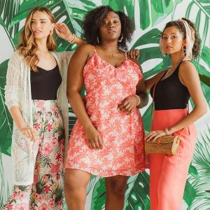 低至额外5折francesca's 夏季大促 清仓区折上折 开衫,连衣裙$12起