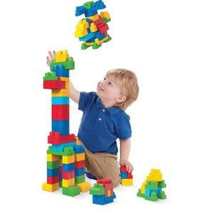 $18.94 (原价$49.42)Mega Bloks 经典儿童大块积木80pcs  多动手开发益智小脑袋