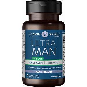 Buy 1 Get 1 FreeUltra Man™ 50 Plus multivitamins for seniors at Vitamin World