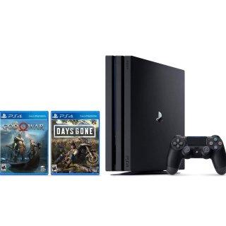 $349.99 (原价$463.61)PS4 Pro 1TB 套装,再送《往日不在》+《新战神》