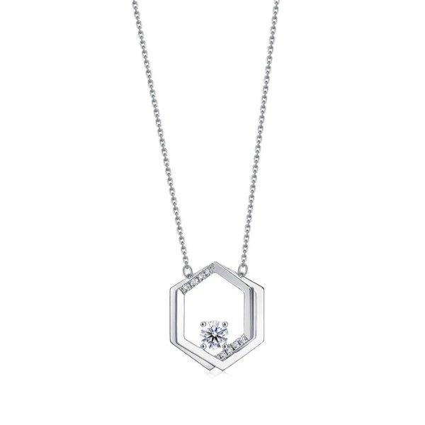 钻石铂金项链