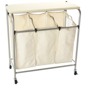 $23Honey-Can-Do Rolling Laundry Sorter with Ironing Board