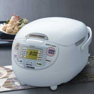 Zojirushi NS-ZCC10 5-1/2-Cup Neuro Fuzzy Rice Cooker and Warmer,1.0-Liter