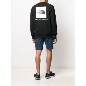 The North Facelogo-print crew neck sweatshirt