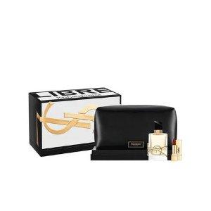YSL Beauty价值$150Libre 香水+唇膏+化妆包套装