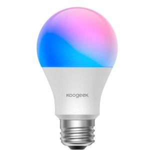 $17.99(原价$23.99)独家:【新品上市】Koogeek Wi-Fi 8.5 W可调光智能LED灯泡