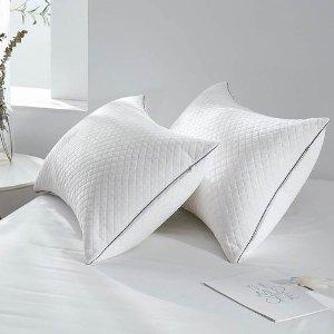 $42.99(原价$52.99)GOHOME 亲肤透气 防过敏枕头 2件套 为颈部提供完美支撑