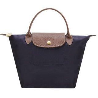 到手¥418即将截止:珑骧 Le Pliage 浆果紫色织物小号、中号短柄折叠手提包