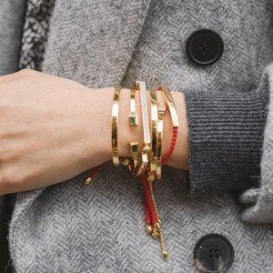 5折起+送玫瑰金项链+免费刻字即将截止:Monica Vinader 全场首饰特卖提前享 小红绳$97收