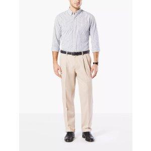 DockersComfort Khakis, Pleated, Classic Fit Comfort Khakis, Pleated, Classic Fit