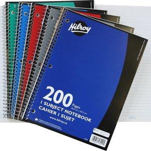 $1.96带回家Hilroy Coil 3孔 笔记本 200页 居家办公必备品