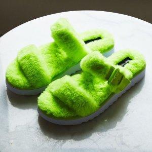 一律$14.99限今天:Nine West 毛绒拖鞋特卖 多款可选