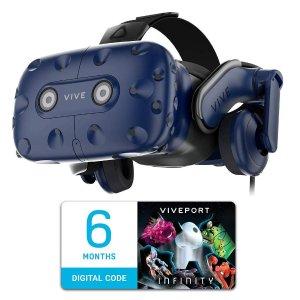 $599.99 (原价$799)HTC VIVE Pro VR 头套,再送6个月 Viveport 订阅会员