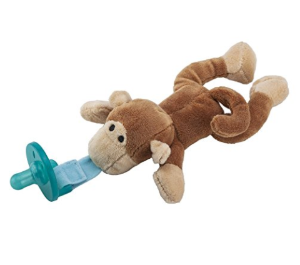 Baby Pacifier Toy Monkey Pacifier Holder Removable Stuffed Animal
